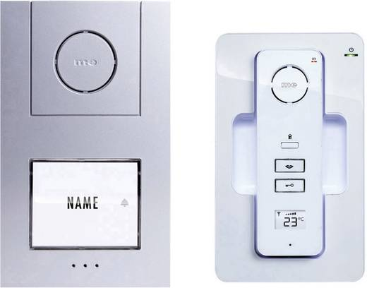m e modern electronics 40941 t rsprechanlage dect funk komplett set 1 familienhaus wei silber. Black Bedroom Furniture Sets. Home Design Ideas