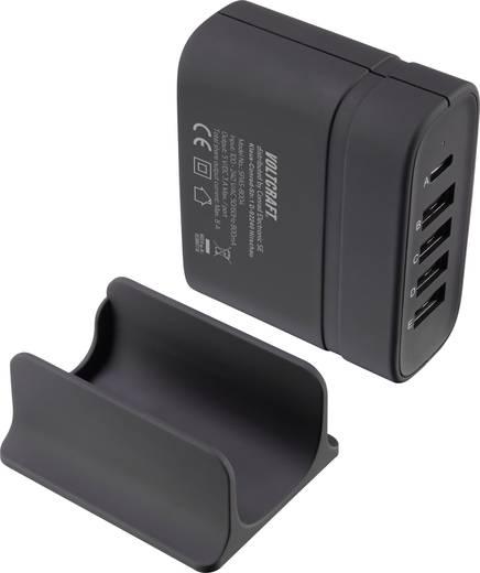 VOLTCRAFT SPAS-8004 VC-8331410 USB-Ladegerät Steckdose Ausgangsstrom (max.) 8 A 5 x USB, USB-C™ Buchse