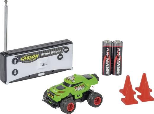 Carson RC Sport 500404185 Nano Racer Dino-Race 1:60 RC Modellauto Elektro Monstertruck Heckantrieb inkl. Batterien