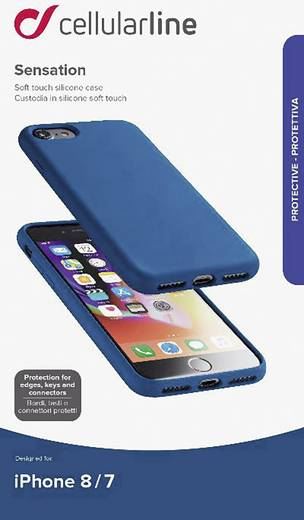 iPhone Case Cellularline SENSATIONIPH747B Passend für: Apple iPhone 7, Apple iPhone 8, Blau