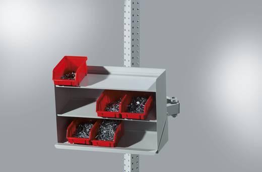 Manuflex ZB3909.9006 Sichtboxen Regal Halter mit Einfachgelenk ähnlich RAL9006 alusilber