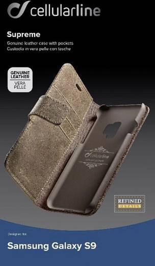 Cellularline SUPREMECGALS9N Booklet Passend für: Samsung Galaxy S9 Braun