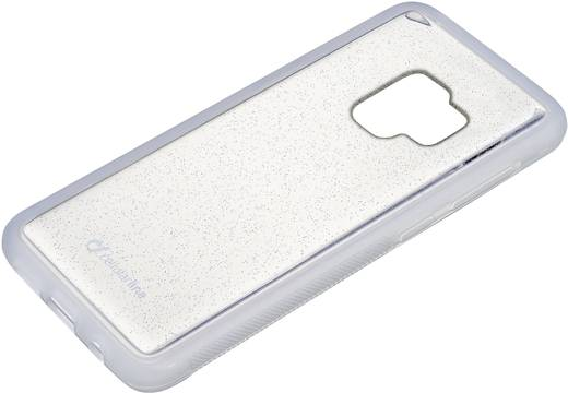 Cellularline SELFIECGALS9PLT Backcover Passend für: Samsung Galaxy S9+ Glitzereffekt, Transparent