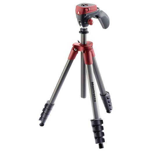 Dreibeinstativ Manfrotto Compact Action rot