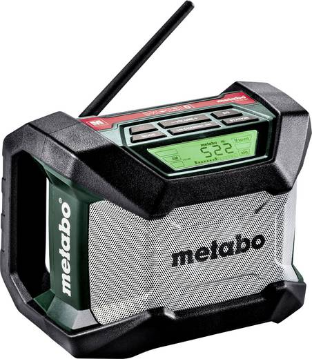UKW Baustellenradio Metabo R 12-18 BT Bluetooth® Schwarz, Grün, Grau