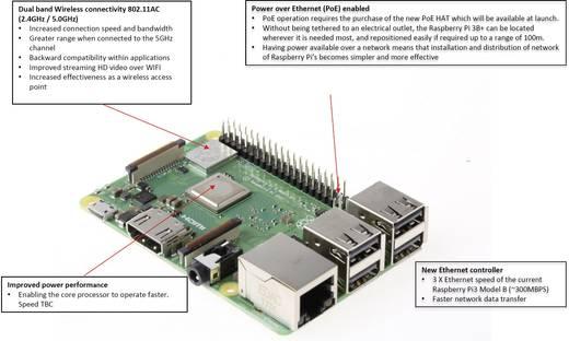 Raspberry Pi® 3 Model B+, 1 GB ohne Betriebssystem