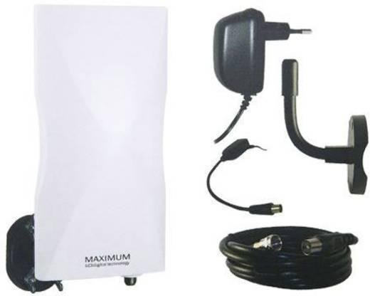 Aktive DVB-T/T2 Flachantenne Maximum DA-6100 LTE Außenbereich Verstärkung=20 dB Weiß
