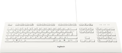 Logitech K280e B2B USB-Tastatur Weiß Spritzwassergeschützt