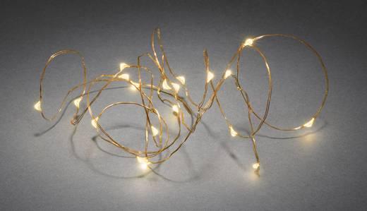 Konstsmide 1460-860 Lichterketten mit Batterien Innen batteriebetrieben 20 LED (einfarbig) Bernstein