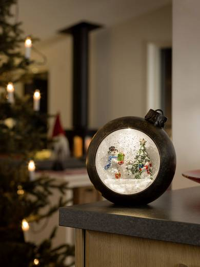LED-Dekobeleuchtung Kugel, Schneemänner Warm-Weiß LED (einfarbig) Konstsmide 4361-000