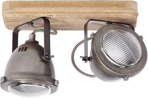 Deckenstrahler LED GU10 50 W Brilliant Carmen Wood 72029/84 Holz, Edelstahl (gebürstet)