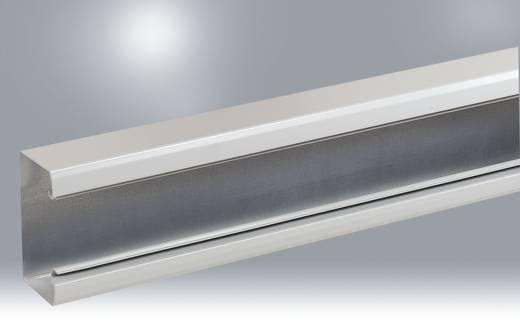 Manuflex ZB3685 Energie-Versorgungs-Kanal 1000mm ohne Zuleitung,unverdrahtet und ohne Frontabdeckung RAL7035 lichtgrau