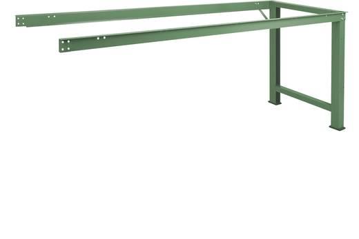 Manuflex WP4030.9006 Anbau-Werkbank PROFI,2000x700 mm ohne Platte ähnlich RAL 9006 alusilber (B x H x T) 2000 x 800 x 70