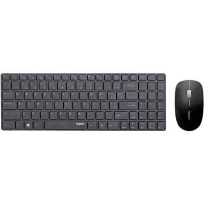 Funk-Tastatur,- Maus-Set Rapoo X9310 Blade Schwarz Preisvergleich