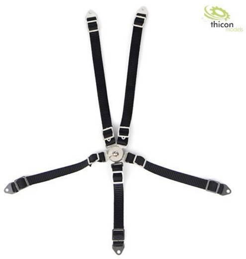 Thicon Models 20095 1:10, 1:14 Sicherheitsgurt schwarz 1 St.