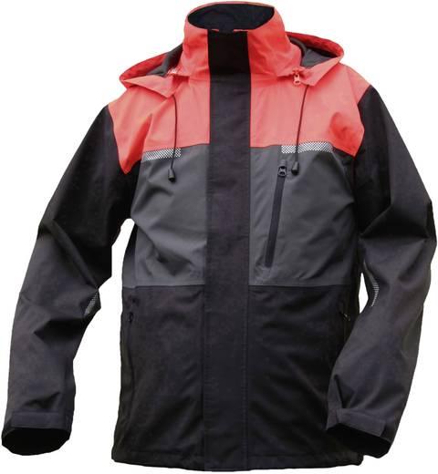 ELDEE 4266-L Riga Wetterschutzjacke Größe: L Leucht-Rot, Grau, Schwarz