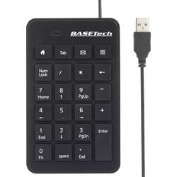 Číselná klávesnica Basetech BT-USB-NUMB1 BT-1669431, čierna