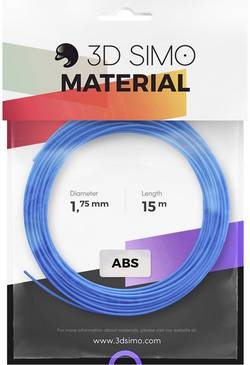 Image of 3D Simo 3Dsimo-ABS-1 Filament-Paket ABS 1.75 mm Blau, Grün, Gelb 120 g