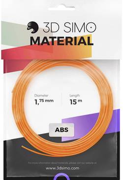 Image of 3D Simo 3Dsimo-ABS-2 Filament-Paket ABS 1.75 mm Orange, Schwarz, Weiß 120 g