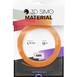 Image of 3D Simo 3Dsimo-ABS-2 Filament-Paket ABS 1.75 mm 120 g Orange, Schwarz, Weiß