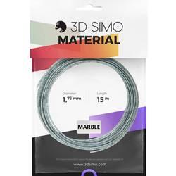 Vlákno pre 3D tlačiarne, 3D Simo 3Dsimo-Marble, 1.75 mm, 40 g, sivý mramor