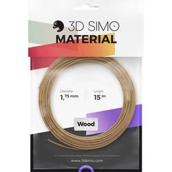 Vlákno pre 3D tlačiarne, 3D Simo 3Dsimo Wood Holz braun, 1.75 mm, 40 g, drevo
