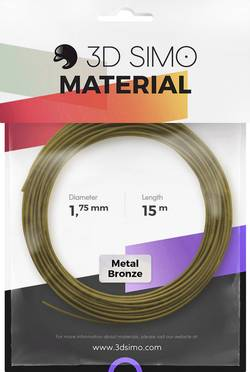 Image of 3D Simo 3Dsimo Metall Bronze Filament 1.75 mm Bronze (metallic) 40 g