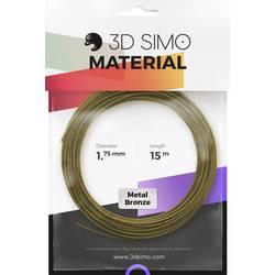 Vlákno pre 3D tlačiarne, 3D Simo 3Dsimo Metall Bronze, 1.75 mm, 40 g, bronzová (metalíza)