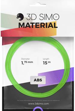 Image of 3D Simo 3Dsimo ABS Transparent grün, lila & gelb Filament-Paket ABS 1.75 mm Grün (transparent), Gelb (transparent), Lila