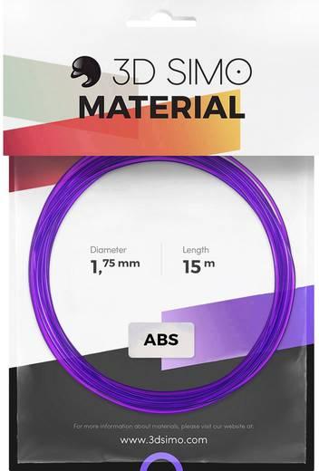 Filament-Paket 3D Simo 3Dsimo ABS Transparent grün, lila & gelb ABS 1.75 mm Grün (transparent), Gelb (transparent), Li
