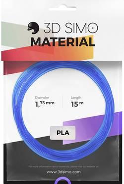 Image of 3D Simo 3Dsimo PLA Transparent blau, rot & weiß Filament-Paket PLA 1.75 mm Blau (transparent), Rot (transparent), Weiß