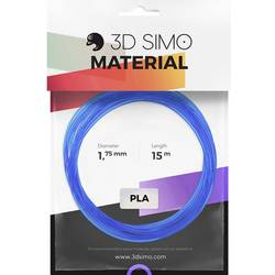 Image of 3D Simo 3Dsimo PLA Transparent blau, rot & weiß Filament-Paket PLA 1.75 mm 120 g Blau (transparent), Rot (transparent),
