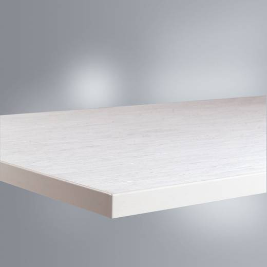 Manuflex ZB1681 Tischplatte 21, mit PVC-Belag weißgrau 1000x600x22mm (B x H x T) 1000 x 22 x 600 mm