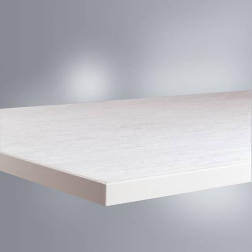 Manuflex ZB1702 Tischplatte 21, mit PVC-Belag weißgrau 1250x800x22mm (B x H x T) 1250 x 22 x 800 mm