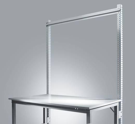 Manuflex ZB3802.9006 Aufbauportal UNIVERSAL-STANDARD 2100mm(Nutzh.1500mm)Anbaueinheit mit Stabilisierungs-Strebe 1246mm für Tischbreite 1250mm RAL9006 alusilber