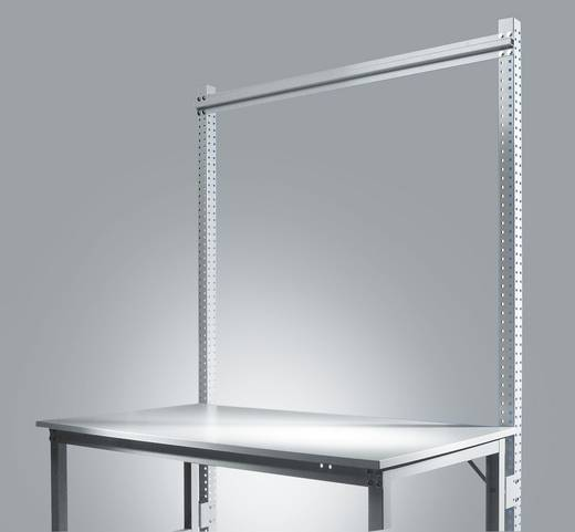 Manuflex ZB3804.9006 Aufbauportal UNIVERSAL-SPEZIAL u.ERGO 2100mm(Nutzh.1500mm)Anbaueinheit mit Stabilisierungs-Strebe 1246mm für Tischbreite 1250mm RAL9006 alusilber