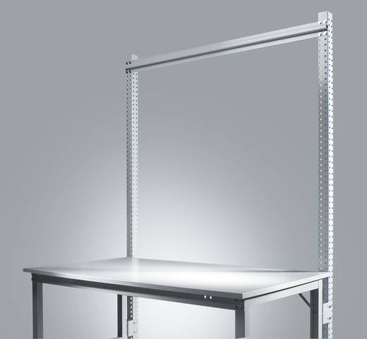 Manuflex ZB3811.9006 Aufbauportal UNIVERSAL-STANDARD 2100mm(Nutzh.1500mm)Grundeinheit mit Stabilisierungs-Strebe 1496mm für Tischbreite 1500mm RAL9006 alusilber