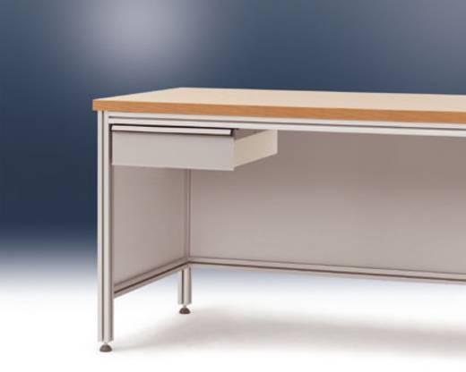 Manuflex ZB4183.7035 Einzelschubfach f.ALU Tisch 800tief - ohne Schloss - RAL7035 lichtgrau