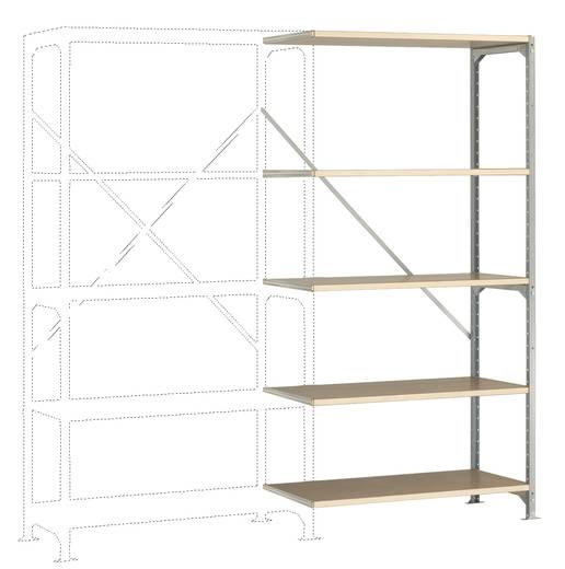 Manuflex RM2126 Fachbodenregal-Anbaumodul (B x H x T) 970 x 2000 x 600 mm Stahl verzinkt Verzinkt Holzboden