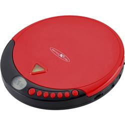 Prenosný CD prehrávač - diskman Reflexion PCD500MP, CD, CD-R, CD-RW, MP3, červená