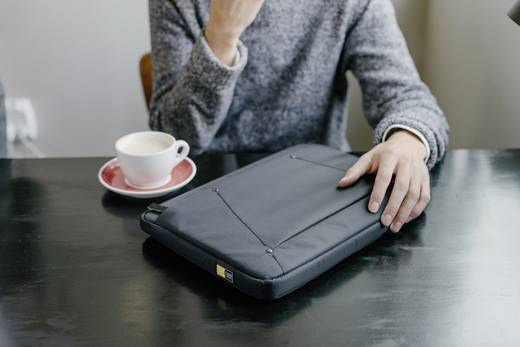 """case LOGIC® Notebook Tasche Deco Passend für maximal: 39,6 cm (15,6"""") Schwarz"""