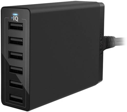 USB-Ladestation Anker PowerPort 6 A2123313 Steckdose Ausgangsstrom (max.) 12000 mA 6 x USB