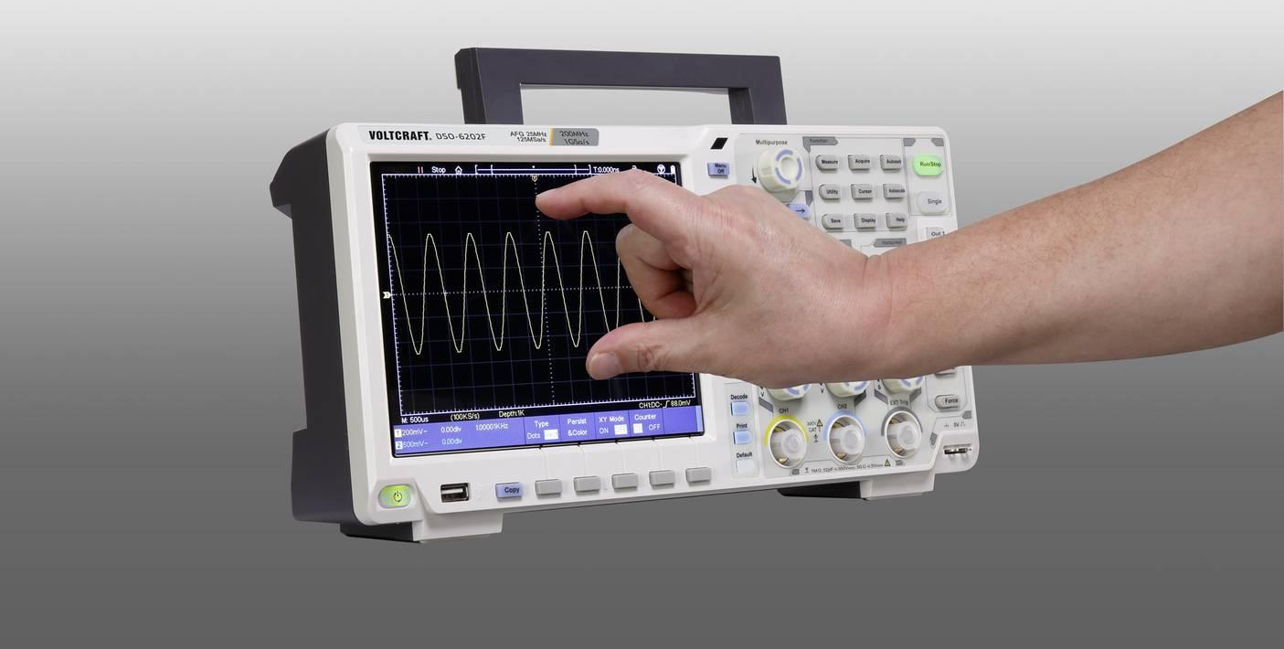 VOLTCRAFT DSO-6202F Digital-Oszilloskop ISO