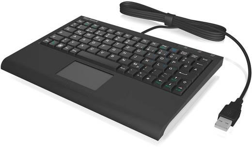 USB-Tastatur Keysonic ACK-340U Schwarz Integriertes Touchpad, Maustasten