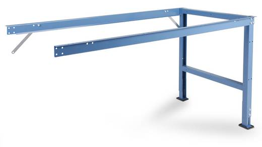 Manuflex AU6040.5007 Anbau-Arbeitst.UNIVERSAL 1500x600x738mm,ohne Platte RAL5007 brillantblau