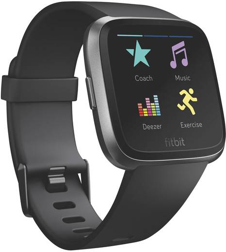 fitbit versa smartwatch uni schwarz kaufen. Black Bedroom Furniture Sets. Home Design Ideas
