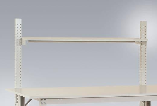 Manuflex AS1272.7035 Ablage Melamin lichtgrau 1500x 350x19mm, mit Unterzug für PACKTISCH 1750mm mit Bügel 3/3 ( 420/27