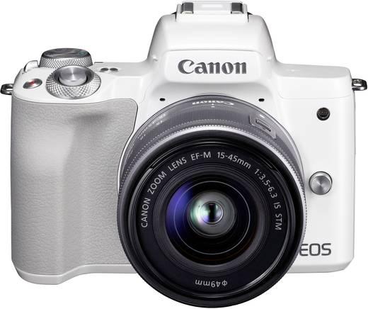 Systemkamera Canon EF-M 15-45 Kit inkl. EF-M 15-45 mm Gehäuse (Body), inkl. Akku, inkl. Standard-Zoomobjektiv 24.1 Mio.