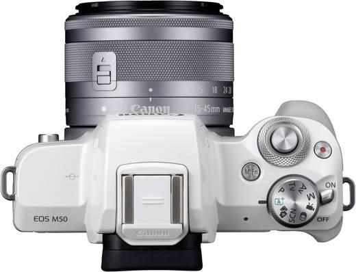 Systemkamera Canon EF-M 15-45 Kit EF-M 15-45 mm Gehäuse (Body), inkl. Akku, inkl. Standard-Zoomobjektiv 24.1 Mio. Pixel
