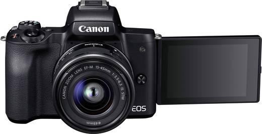 Systemkamera Canon EF-M 15-45 Kit EF-M 15-45 mm IS STM Gehäuse (Body), inkl. Akku, inkl. Standard-Zoomobjektiv 24.1 Mio